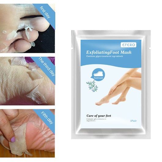 efero 3pack=6pcs Peeling Exfoliating Foot Mask Feet Masks Remove Dead Skin Cuticles Heels Baby Feet Spa Foot Care Pedicure Socks