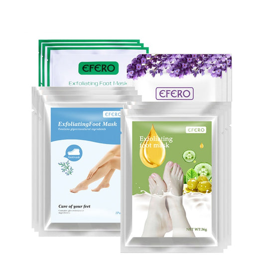 efero Baby Feet Foot Peel Mask Remove Dead Skin Care Smooth Exfoliating Foot Mask Pedicure Socks For Heels Foot Spa 24pcs=12pair