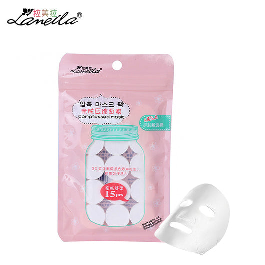 LAMEILA 15pcs Compressed Facial Mask Sheet DIY Cotton Face Wrapped Mask Paper homemade Skin care beauty Cosmetic Beauty Spa Tool