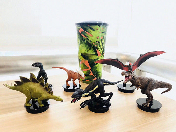 Jurassic World 2 Fallen Kingdom T-Rex 6PCS SET Figure Topper Exclusive Theater Anime Figure Collectible Model Toy