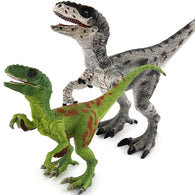 2 Colors Jurassic Dino World Velociraptor Solid model figure teaching Collection Children's birthday Gift model toys