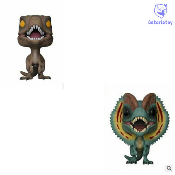 NEW 10cm Jurassic World 2 Pirate Dragon Double Crowned Dragon action figure big Bobble Head Q Edition no box for Car Decoration