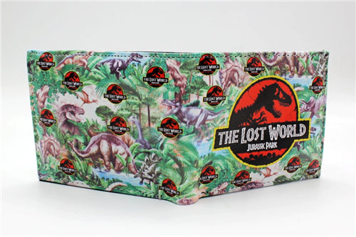 Jurassic World Wallets Full Print coin bifold purse women men wallet