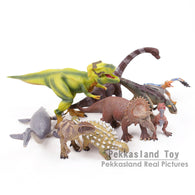 Jurassic World Dinosaur Toys Carnotaurus Plastic Model Figures Kids Christmas Gifts 9pcs/set 2 Types 6~15CM