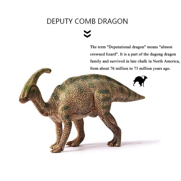 Jurassic World Park Dinosaur Plastic Toy 2 Colors Model Parasaurolophus Figure Collection Triceratop Christmas For Kids Gift