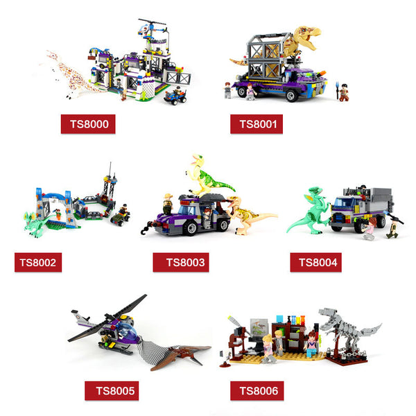 HOT Compatible legoed Jurassic World 2 park 3 Sets Dinosaurs Toys T-Rex Blocks Building animals Model Brick Child boy kids gift