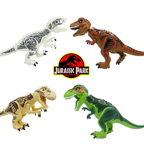 Legoing Jurassic World 2 Park Figures Dinosaurs Tyrannosaurus Rex Kid Baby Model Building Blocks Bricks Toys For Children Gifts