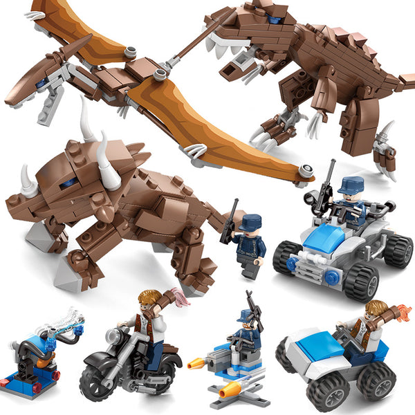 Legoings Dinosaur Toy Jurassic World 2 Fallen Kingdom Park T-Rex Velociraptor Building Blocks Bricks Toys For Children BKX58