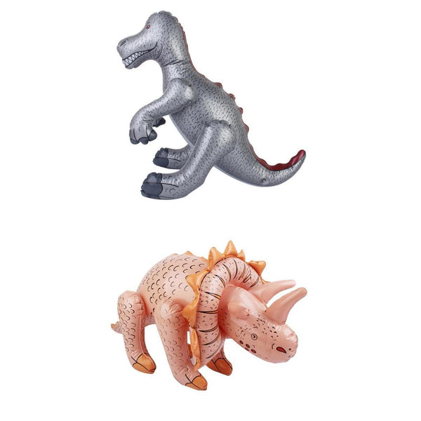 2 Piece Inflatable PVC Jurassic World T-Rex & Triceratops Dinosaurs Kid Party Favor Pool Beach Toy