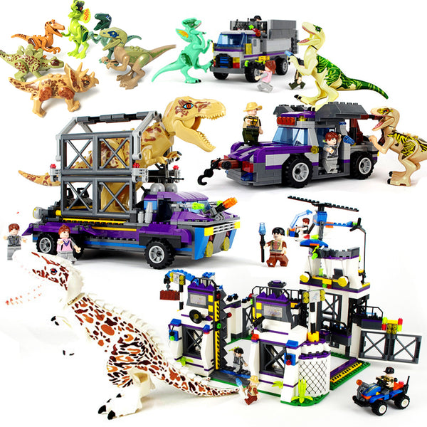 Legoings Jurassic World 2 Dinosaurs Figures Building Blocks Toys Tyrannosaurus Rex Brick Children Boy Dinosaurs Toys Kids Gift