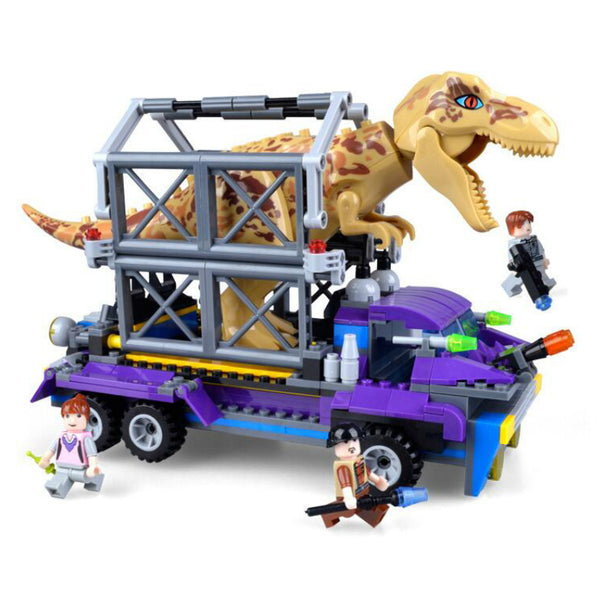 TS8001 385pcs Jurassic World 2 Building Blocks Legoings Dinosaur Tyrannosaurus Rex Tracker Figures Block Brick Toys Model