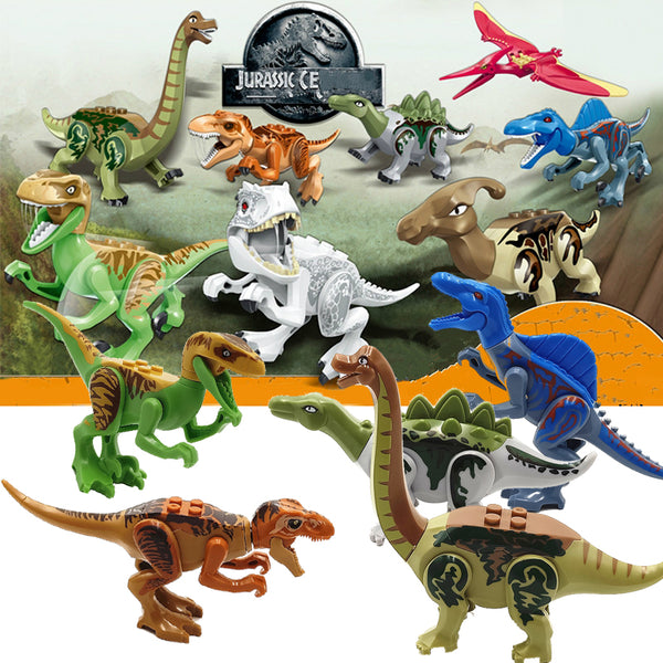 Jurassic World 2 Dinosaurs Building Blocks Bricks Tanystropheus Tyrannosaurus Rex Figures Toys Compatible with Legoed Dinosaurs