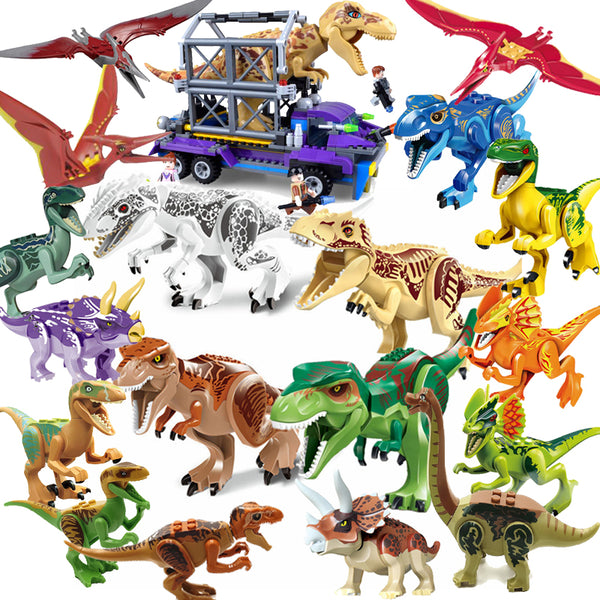 Jurassic World 2 Dinosaurs Figures Tyrannosaurus Rex Building Blocks Dinosaur Bricks Toys Model Compatible with Legoings