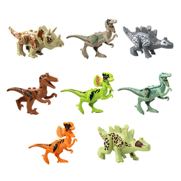 1pcs Mini Jurassic Word 2 Dinosaurs jurassic world indominus rex toy Model Building Blocks for children