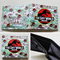2018 The Lost World Jurassic Park Bifold wallets Purse Multi-Color 12cm Leather W344