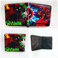 New Designs Deadpool Wallets Cartoon Anime Dead Pool Purse Bi-Fold Card Holder Purse Short PU Wallet W905J