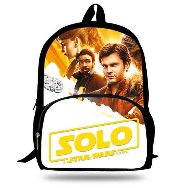 New Hot Solo A Star Wars Story Schoolbag For School Boys Girls Fashion Printed superhero Backpack For Kids Students