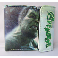 American Movie The Avengers Folding PU Short Wallet/The Green Scar The Incredible Hulk Button Purse