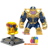 Single Marvel Avengers 3 Infinity War Thanos MCU Scarlet Witch Wanda Spider-Man Iron Man figure building blocks toy for children