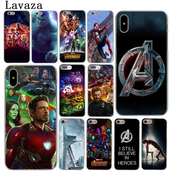 Lavaza The Avengers Infinity War Marvel Hard Phone Shell Case for Apple iPhone X 10 8 7 6 6S Plus 5 5S SE 5C 4 4S Cover Iron Man
