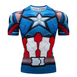 Raglan Sleeve Compression Shirts Avengers 3 Infinity War MK50 Iron Man 3D Printed T shirts Men 2018 Summer Crossfit Top For Male