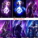 Avengers infinity war poster Clear Image Wall Stickers Home Decoration Good Quality Prints White Coated Paper home art Brand