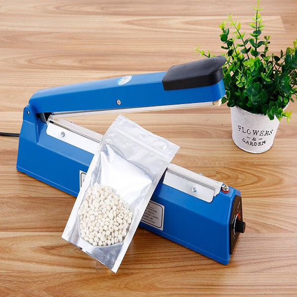 220V Impulse Sealer Hand Heat Sealing Machine Plastic Film Sealer Bag Closer Teflon Sealer Kitchen Storage Tool
