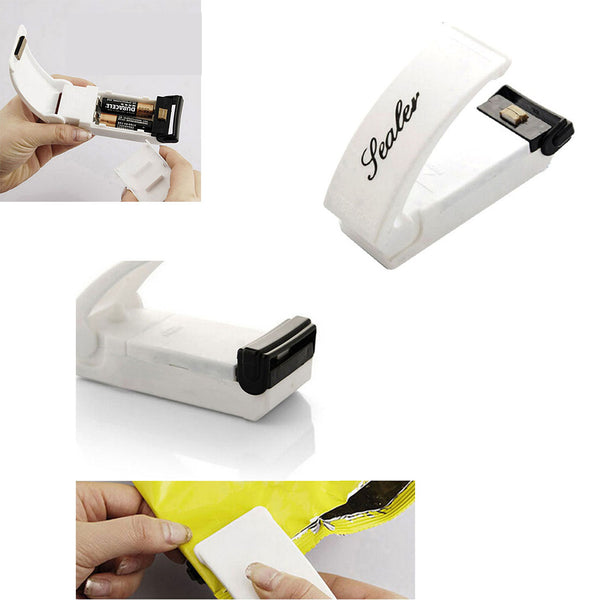 1PC Plastic Bags Sealing Tools Creative Vacuum Food Sealer Mini Portable Heat Sealing Machine Impulse Bag Sealer Kitchen