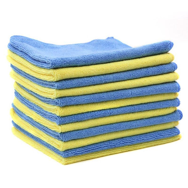 12pcs/set Auto Care Microfiber Car Cleaning Cloth Car Care Microfibre Wax Polishing Detailing Towels 40x40cm Kitchen Car Washing