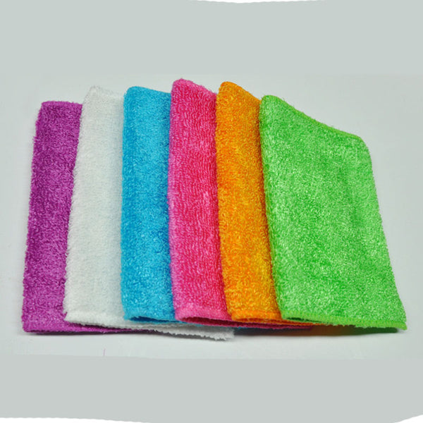 10pcs Bamboo Fiber Dish Towel Dishcloth Cleaning Cloths Kitchen Household Towels Cloth Random Multi Purpose Drop shipping