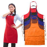 5 Colors Unisex Sleeveless Simple Adjustable Plain Apron with Front Pocket Butcher Waiter Chefs Cooking Aprons Craft