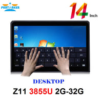 All In One PC with 14 Inch Desktop 10 Points Capacitive Touch Screen Intel Dual Core 3855u 2G RAM 32G SSD