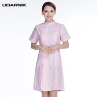 Women Nurse Uniform Short Sleeve Medical Clothing Lab Coat Work Suit Dress Hospital Clothing White Pink Blue SMT-A055
