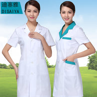 short Sleeve Medical clothing women Medical gown Lab coat White coat Clothes for doctors Summer and Spring