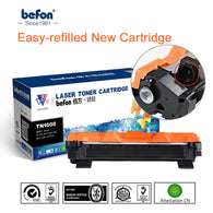 befon Toner Cartridge Compatible for Brother TN1000 TN1030 TN1050 TN1060 TN1070 TN1075 TN1095 HL1110 TN 1000 1030 1075 Printer