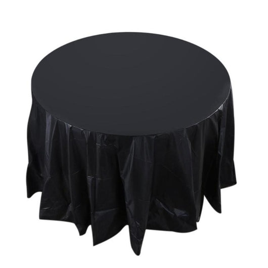 Incredible 84In Round Tablecloth Table Cloth Cover Waterproof Oilproof Plastic Home Wedding Party Camp Dinner Restaurant Banquet Decoration Download Free Architecture Designs Grimeyleaguecom