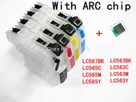 BLOOM refillable Ink cartridge for LC563 LC567 LC565 cartridges for Brother MFC-J2310 MFC-J2510 printer