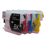 4 ink LC16 LC38 LC61 LC65 LC67 LC980 LC990 LC1100 refillable ink cartridge for brother MFC- J805D  J850DN J850DWN J855DN 930CDN