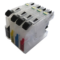 4 COLOR LC133 BK C M Y refillable Ink cartridge for Brother Brother MFC-J4510DW/MFC-J4710DW/MFC-J4410DW printer permanent chip
