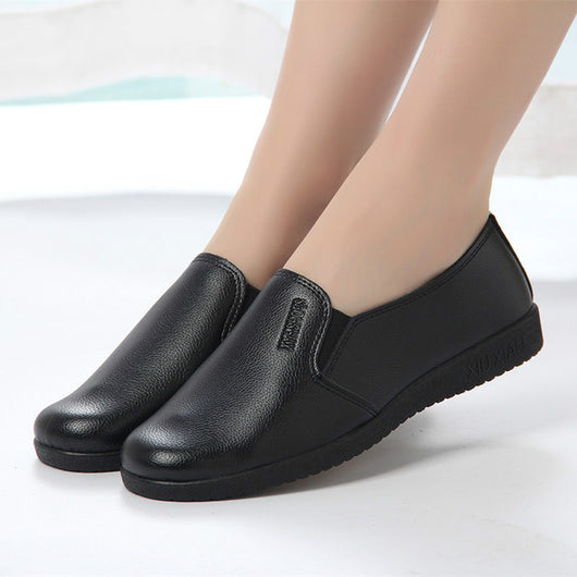 Chef Waiter Shoes Restaurant Hotel Kitchen Footwear Non Slip Flat Soft Work Shoes Waterproof Oil Proof Women S Shoes Black