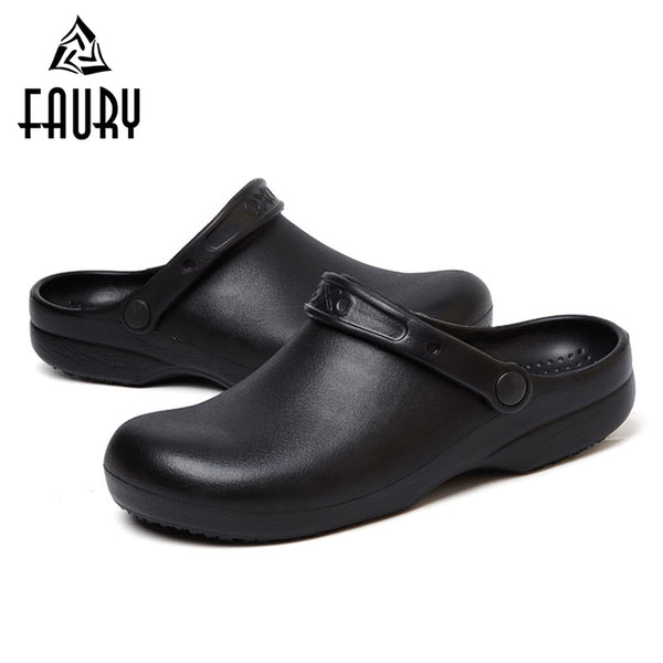 Summer Soft Work Slippers for Kitchen Chef Work Shoes Professional Restaurant Hotel Cooking Canteen Footwear Non-slip Sandals