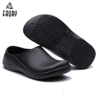 Summer Top Chef Work Shoes Kitchen Cooking High Quality Non-slip Footwear Waterproof Oil-proof Restaurant Hotel Casual Slippers