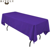 5pcs/ Pack  Rectangular Satin Tablecloth 21 colors Table Cover for Wedding Party Restaurant Banquet Decorations by free shipping