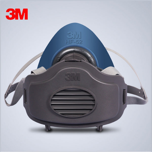 3MHF52+10pc3701Filter cotton Quality silicone Half Face Gas Mask KN95 Dust Anti industrial conatruction Dust pollen Haze poison