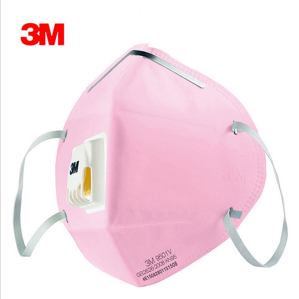 3pcs 3M 9501C Anti dust PM 2.5 Mask Anti influenza Breathing valve Bicycle/Riding folding filter mask Adult KN95  safety masks