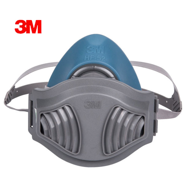 3MHF+10pc1701Filter cotton Quality silicone Half Face Gas Mask KN95 Dust Anti industrial conatruction Dust pollen Haze poison