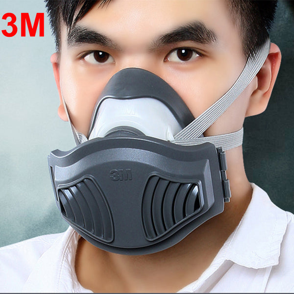 3M 1211+10pcs 1701 Filter cotton Half Face Dust Mask Anti industrial Conatruction Dust Pollen Haze Poison Safety Protective Mask