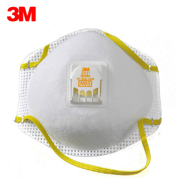 3M 8511 Dust Mask PM 2.5 Anti-fog Particulate Valved Respirator Anti influenza Breathing Valve Adult N95 Safety Dustproof Masks