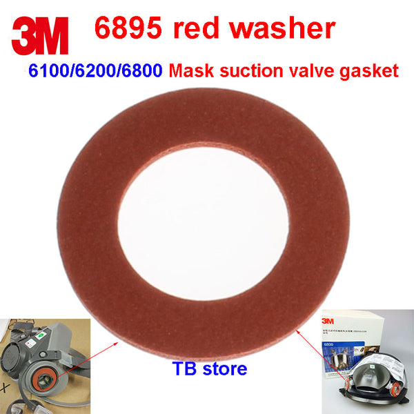 3M 6895 2PCS Breathing hole washer 6200/6800 Gas mask Air inlet seal Protect the gasket 6000 Series mask replace Gaskets