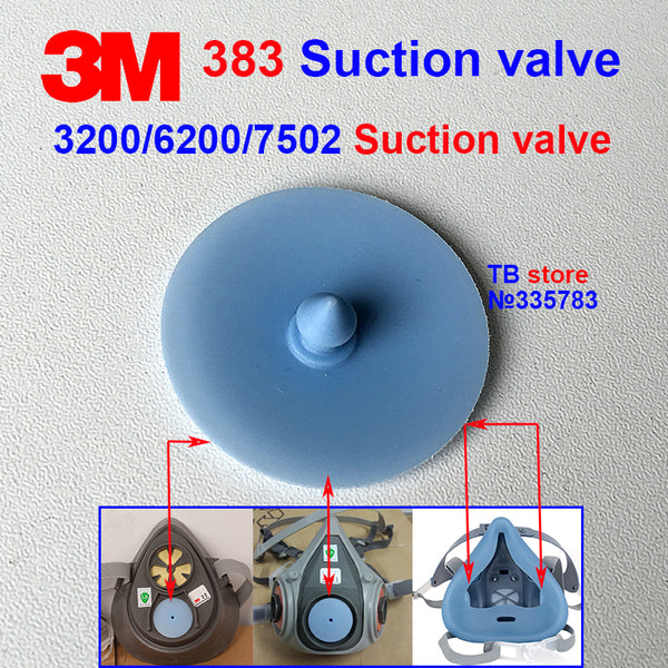 3M 383 Breathing gasket 3200/6200/7502 Gas mask Replacement gasket blue Circular Exhale Rubber gasket